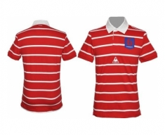 Le coq sportif polo shirt stripes rugby