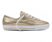 Converse sapatilha chuck taylor all star high line metallic leather ox