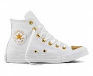 Converse sapatilha chuck taylor all star metallic toecap w hi