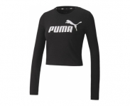 Puma long sleeve ess+ logo fitted w