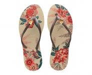Dupe chinelo floral chic slim