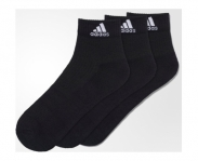 Adidas meias pack3 performance ankle half cushioned