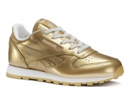 Reebok sapatilha classic leather metallic k