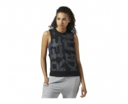 Reebok t-shirt de alças french terry muscle w