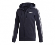 Adidas jaqueta c/ capuz essentials 3 stripes fleece