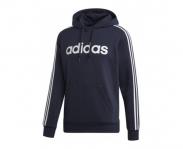 Adidas sweat c/ capuz essentials 3 stripes fleece