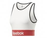 Reebok top linear logo bra w