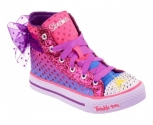 Skechers sapatilha shuffles lights pixie bunch
