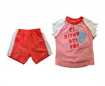Nike t-shirt + short sunsport girls