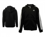 Adidas casaco c/capuz algodao ess 3s fz jr.