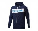 Reebok jaqueta c/ capuz training essentials logo
