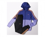 Adidas tracksuit separates polyester hooofd jr