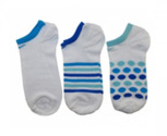 Nike socks pack3 striped and dot no show