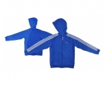 Adidas jacket with hood algodao ess 3s fz jr.