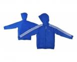 Adidas jaqueta c/capuz algodao ess 3s fz jr.