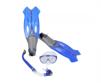 Speedo pack glide mask snorkel + fin set