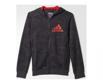 Adidas jacket boys essentials all over printed full k