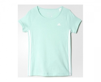 Adidas camiseta essentials mid 3 stripes k