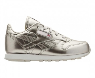 Reebok sapatilha classic leather metallic inf