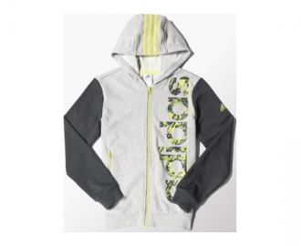Adidas jacket with hood reharged