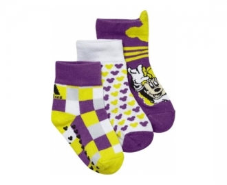 Adidas socks pack 3 thin disney girls